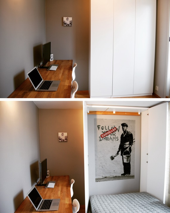 ikea hack get the max out of pax murphy bed huskverna. Black Bedroom Furniture Sets. Home Design Ideas