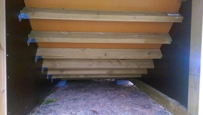 bjelker under rampe